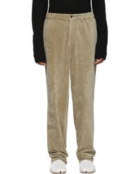 Issey Miyake - Beige Velour Trousers - Lyst