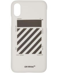Off-White c/o Virgil Abloh - White Diagonal Iphone X Case - Lyst