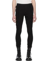 Julius - Black Laced Lounge Trousers - Lyst