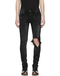 Amiri - Black Artist Broken Jeans - Lyst