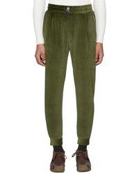 Sunnei - Green Velour Jogging Trousers - Lyst