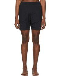 AMI - Black Ami De Coeur Long Swim Shorts - Lyst
