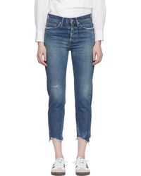 Chimala - Blue Selvedge Narrow Tapered Cut Jeans - Lyst