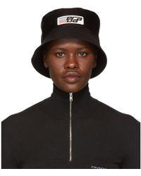 Prada - Black Nylon Logo Bucket Hat - Lyst