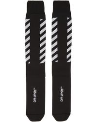 Off-White c/o Virgil Abloh | Black Diagonal Long Socks | Lyst