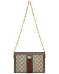 Gucci - Beige Gg Supreme Ophidia Bag - Lyst