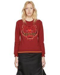 KENZO - Red Tiger Sweatshirt - Lyst