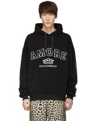 Dolce & Gabbana - Black Amore Hoodie - Lyst
