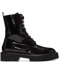 Yang Li - Black Patent Classic Lace-up Boots - Lyst