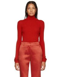 Nina Ricci - Red Cut-out Turtleneck - Lyst