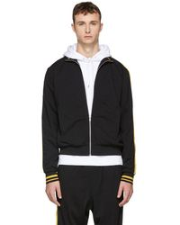 McQ - Black And Yellow Athletic Zip Jacket - Lyst