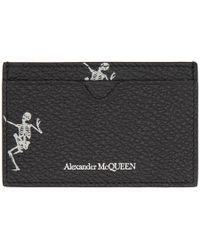 Alexander McQueen - Black Dancing Skeleton Card Holder - Lyst