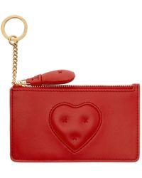 Anya Hindmarch - Red Chubby Heart Zip Card Holder - Lyst