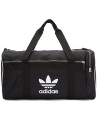 adidas Originals - Black Large Duffle Bag - Lyst