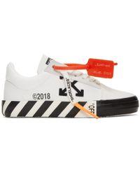 e3f61802ed89 Off-White c o Virgil Abloh - White Striped Vulcanized Sneakers - Lyst