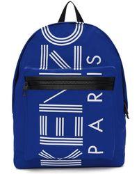 KENZO - Blue Logo Backpack - Lyst