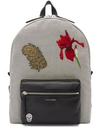 Alexander McQueen - Black & Off-white Peacock Feather Backpack - Lyst
