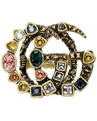 Gucci - Gold Gg Marmont Ring - Lyst