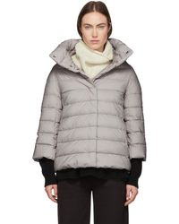 Herno - Grey Down Cocoon Jacket - Lyst