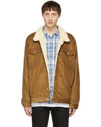 Naked & Famous - Brown Oversized Corduroy Sherpa Jacket - Lyst