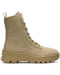 Yeezy - Taupe Nubuck Military Boots - Lyst
