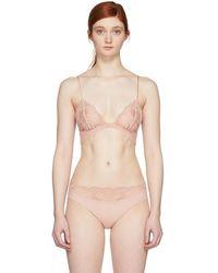 La Perla - Pink Elements Lace Triangle Bra - Lyst