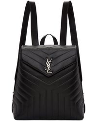 Saint Laurent - Black Medium Monogram Loulou Backpack - Lyst