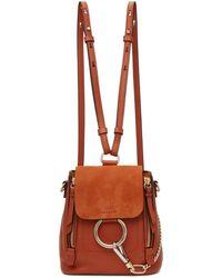 Chloé - Red Mini Faye Backpack - Lyst