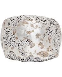 Pearls Before Swine | Silver Forged Square Ring | Lyst