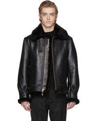 Schott Nyc | Black B-3 Shearling Jacket | Lyst