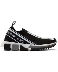 Dolce & Gabbana - Stretch Jersey Sorrento Trainers With Logo - Lyst