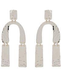 Proenza Schouler - Silver Medium Hammered Earrings - Lyst