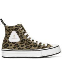 R13 | Brown And Black Leopard High-top Trainers | Lyst
