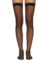 Wolford - Black Individual 10 Stay-up Stockings - Lyst