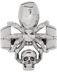 Alexander McQueen - Silver Spider Ring - Lyst