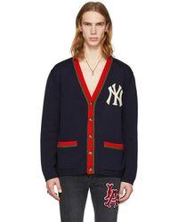 Gucci - Navy Ny Yankees Edition Cardigan - Lyst