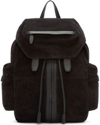 Alexander Wang - Black Suede Marti Backpack - Lyst