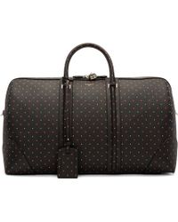 Givenchy - Black Leather Jacquard Duffle Bag - Lyst