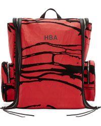 Hood By Air - Black & Red Canvas Peel Deni Backpack - Lyst