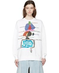 Ashish - White Sequin Biology Pullover - Lyst