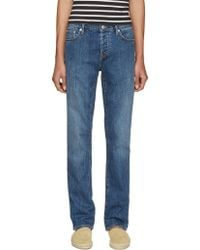 Burberry Brit - Blue Straight Jeans - Lyst