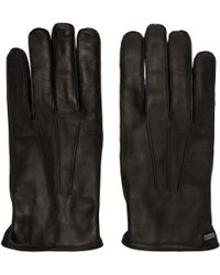 Dolce & Gabbana - Black Lambskin Gloves - Lyst