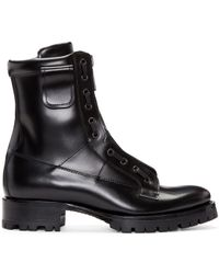 DSquared² - Black Leather Asylum Boots - Lyst