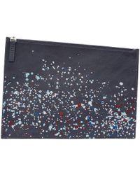 Maison Margiela - Navy Paint Splatter Document Holder - Lyst