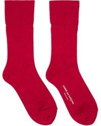 Comme des Garçons - Red Long Socks - Lyst
