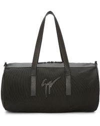 Giuseppe Zanotti - Black Canvas & Leather Duffle Bag - Lyst