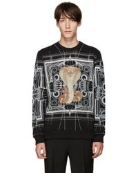 Givenchy | Black Cobra Pullover | Lyst