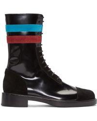 Raf Simons - Black Stripes Boots - Lyst