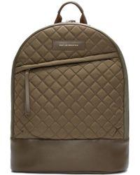 Want Les Essentiels De La Vie - Khaki Quilted Canvas Kastrup Backpack - Lyst