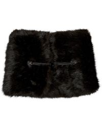 Carven - Black Faux-fur Collar - Lyst